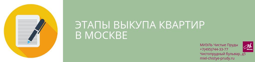 Этапы выкупа квартир в Москве. Агентство Чистые Пруды, Москва, Чистопрудный бульвар, 5. Звоните 84957443377