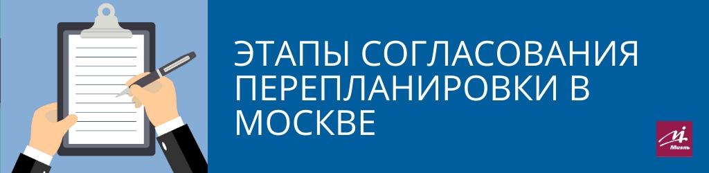 Этапы согласования перепланировки в Москве